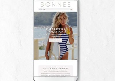 bonnee website displayed on mobile phone