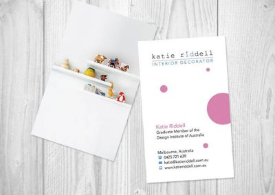 katie riddell business cards