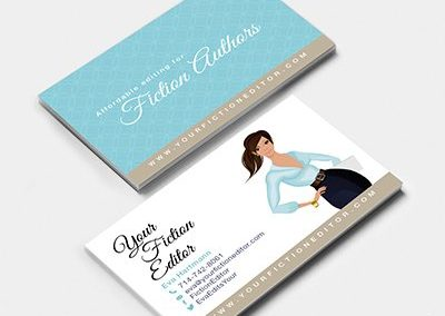 your fiction editor business cards