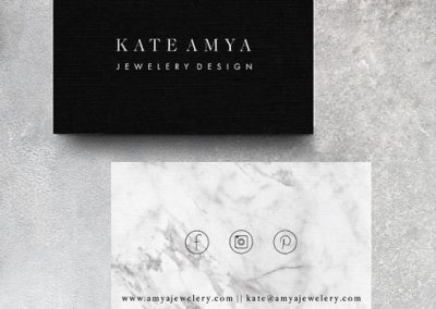 kate amya jewelry design business cards